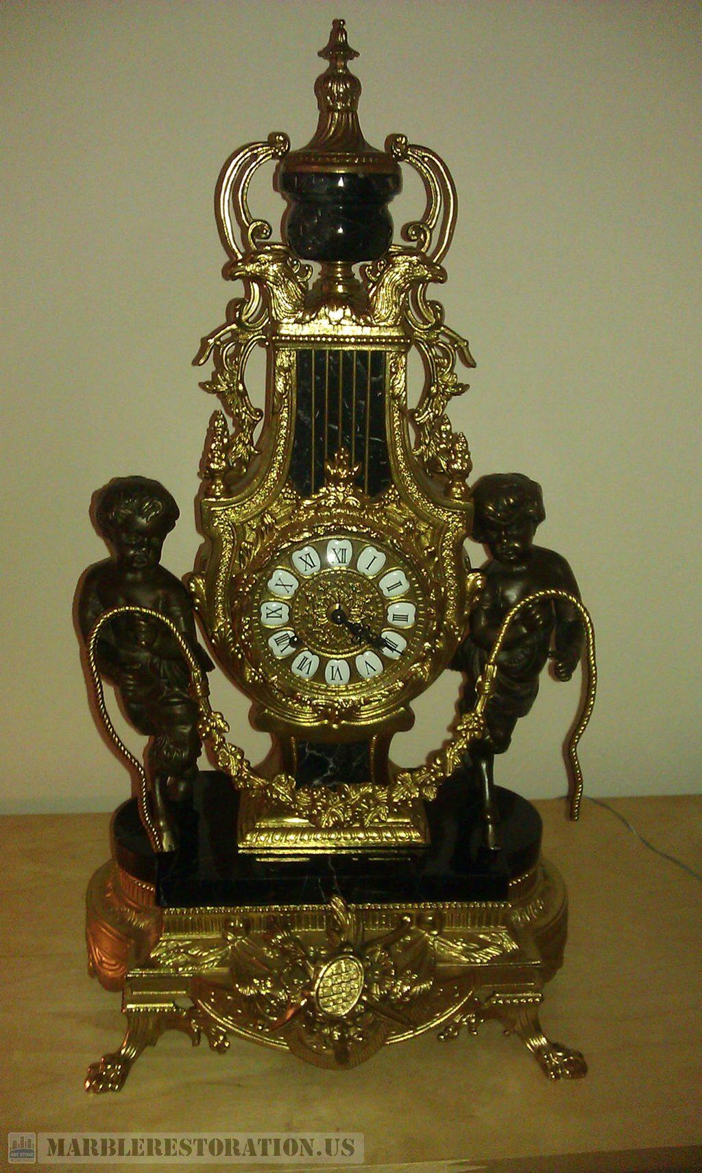 Negro Marquina Clock Base