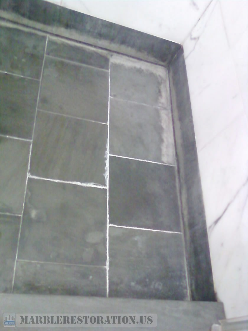 Salts, Calcium or Minerals Deposits in Shower Floor Removal