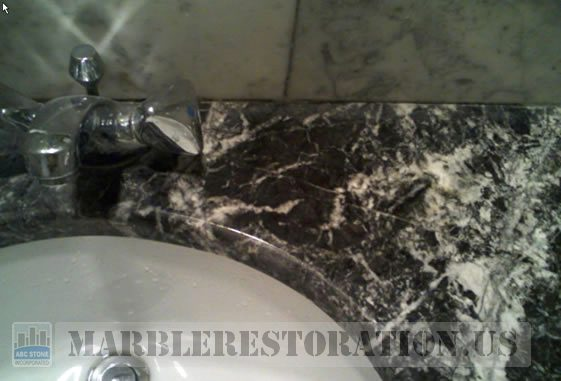 Soapy Stain on Marble Vanity Removal