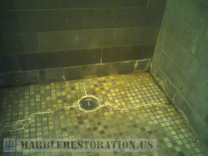 Mosaic Shower Floor Restoration