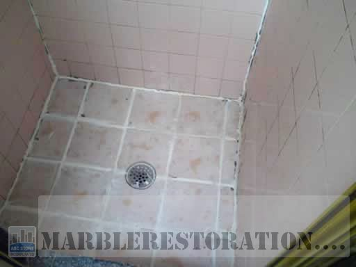 Mold on Ceramic Tiles in Shower Cabin