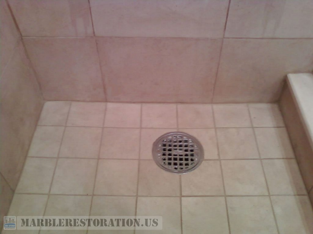 Famous Shower Marble Floor. Mold & Stains Removal UM75
