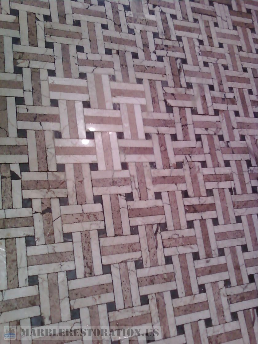 Just Replaced Mosaic Floor Tiles