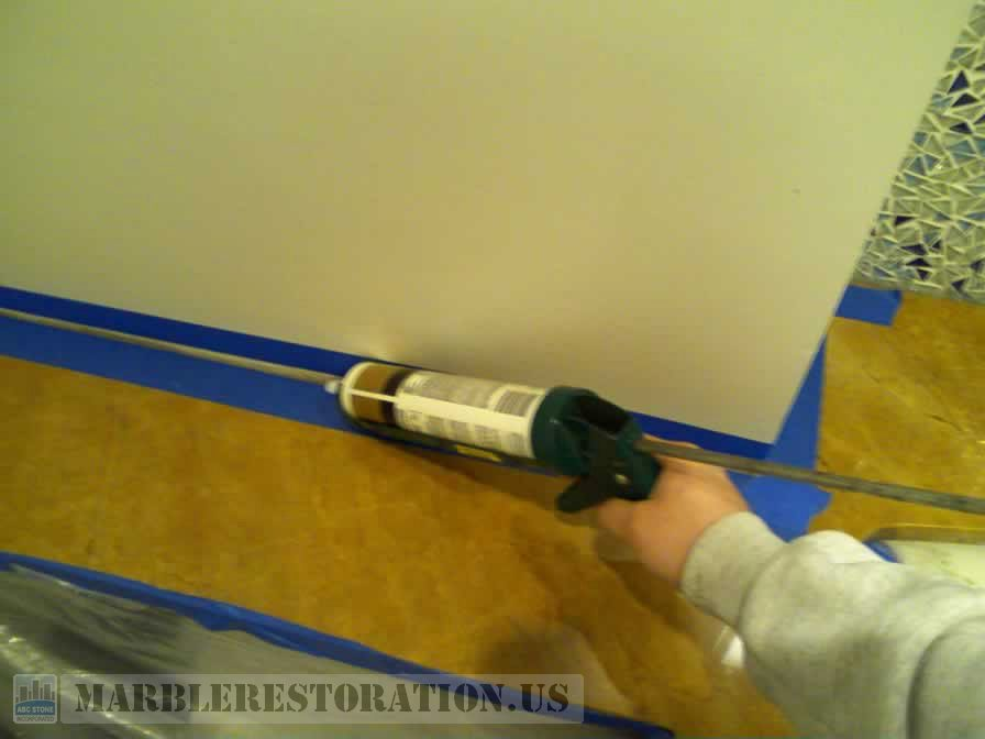 Caulking on Pre-Taped Corner