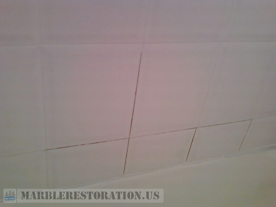 White Ceramic Tiles Before Grouting