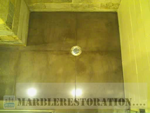 Revived Marble in Shower Floor