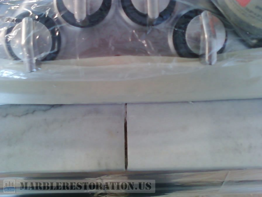 Marble Seam Expansion in Front of Cooktop