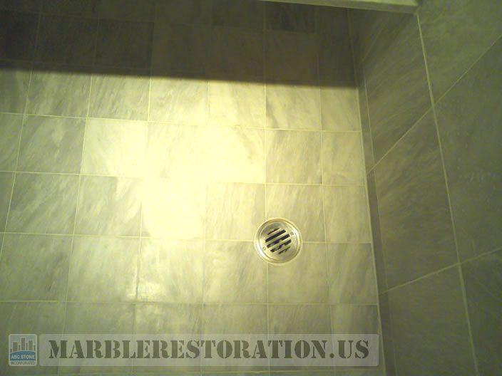 Shower Floor Build Up After Removal