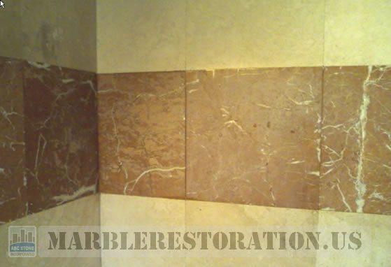 Shower Reddish Dull Tiles