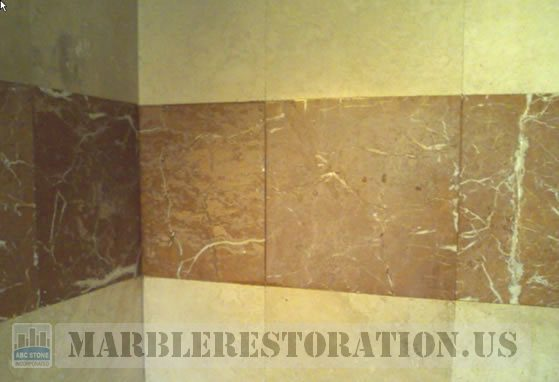 Shower Reddish Discolored Dull Tiles