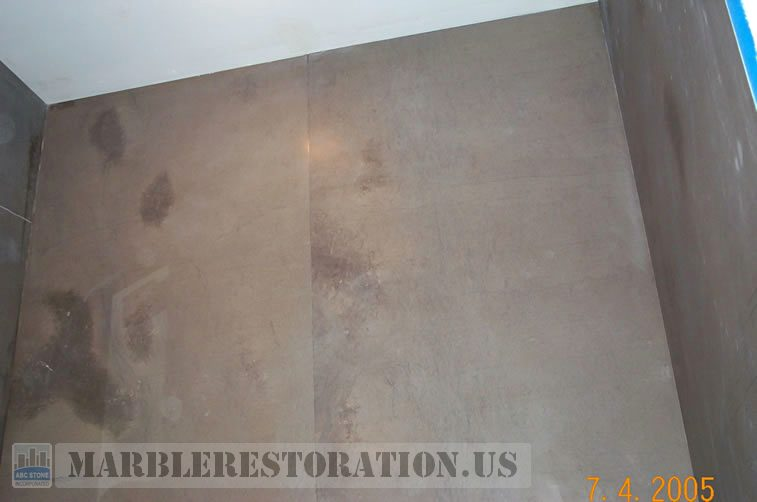Shower Wall Honed Limestone