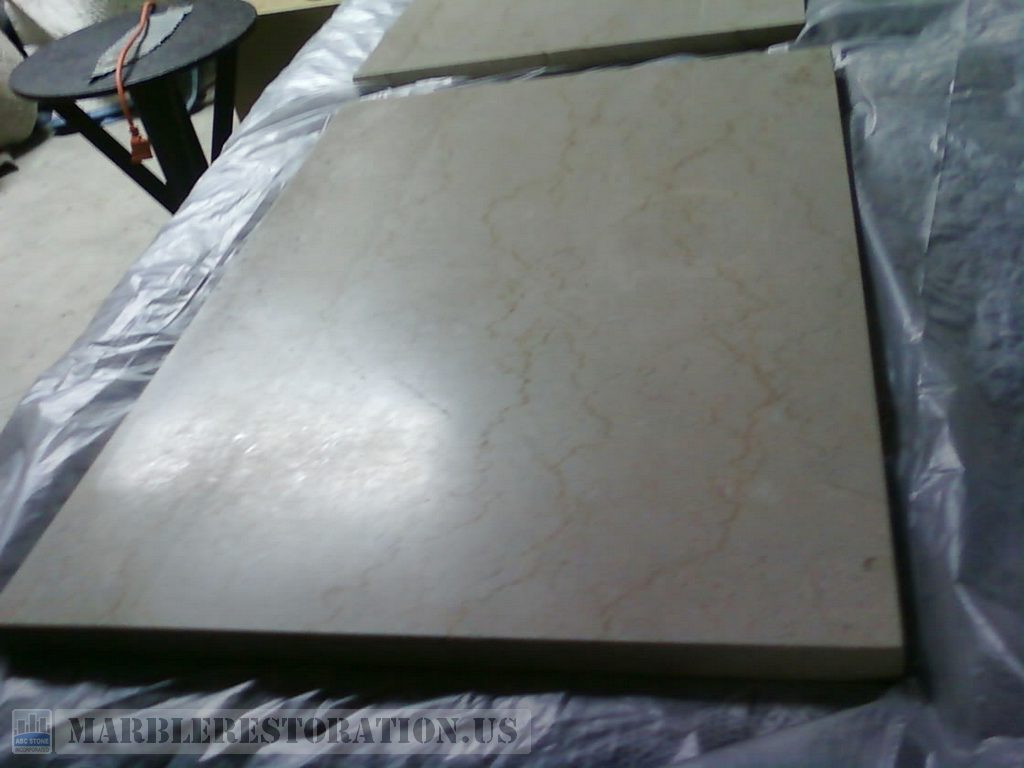 Dull Botticino Marble. Rectangular Piece