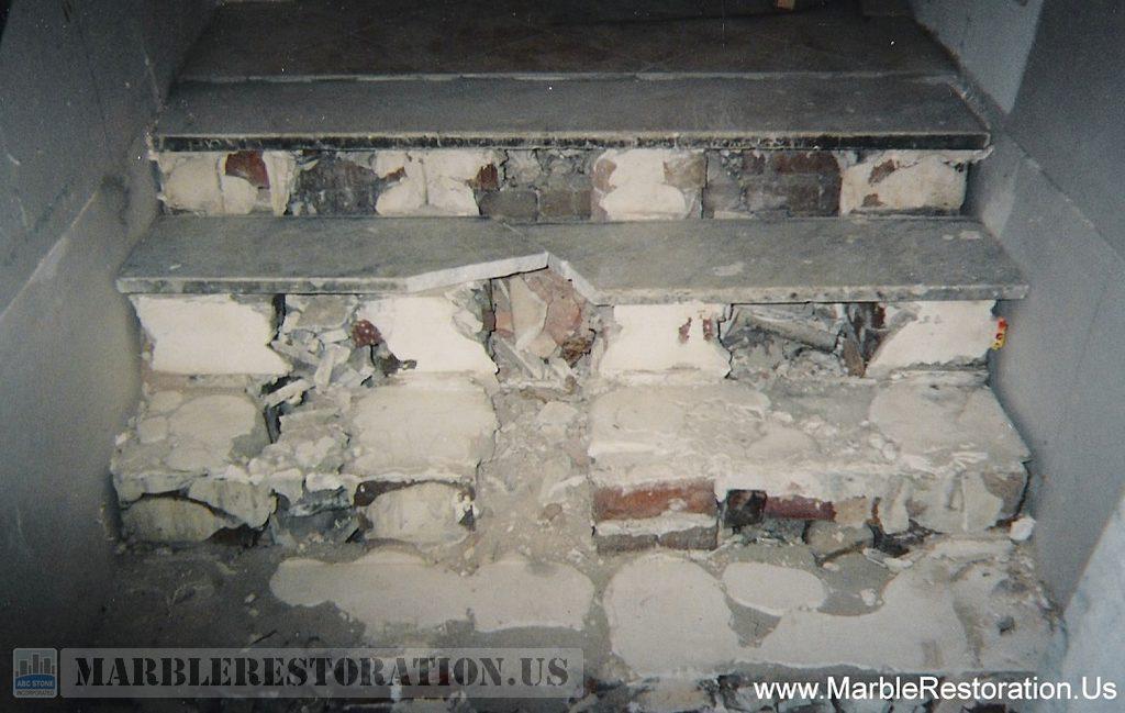 Old Marble Steps Demolition and Preparation