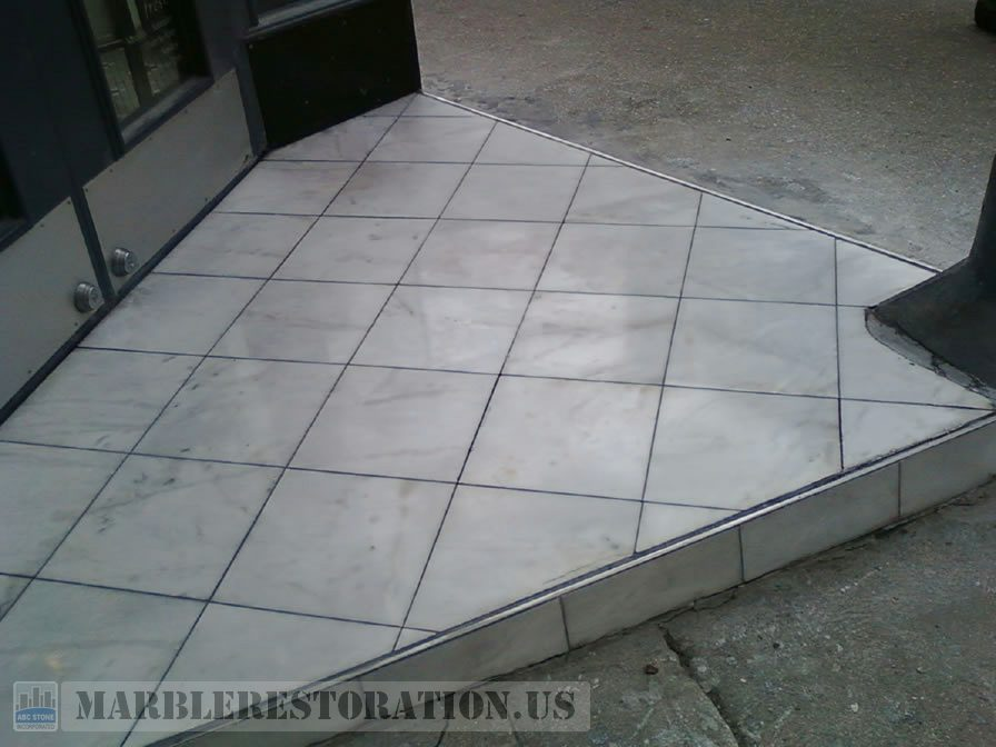 Fresh Store Tiled Step After Repair