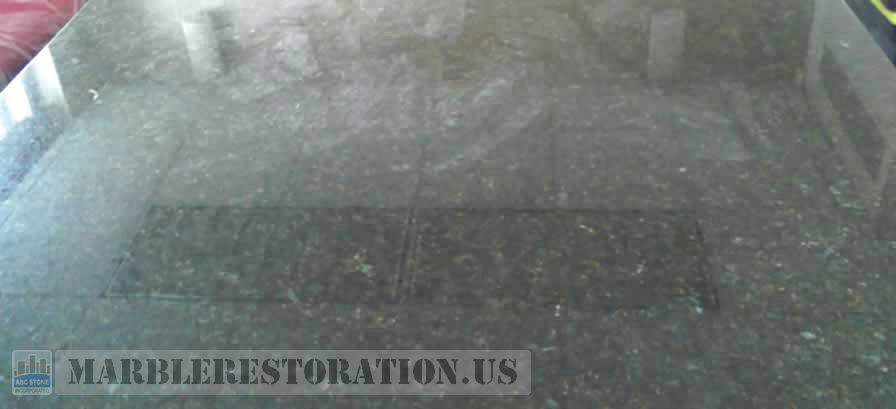 Conference Table Repair. Ubatuba Granite
