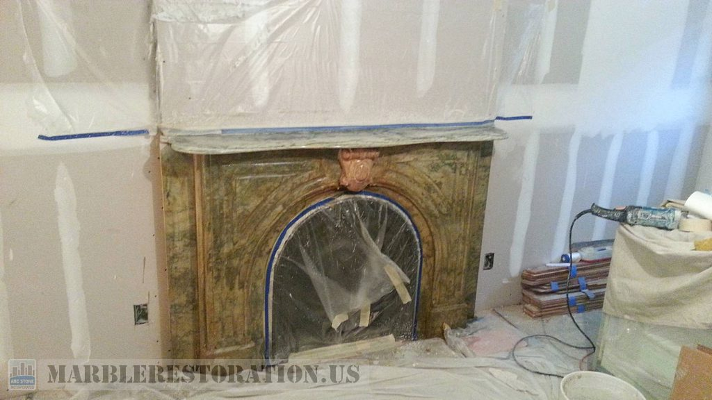 Blemish Mantelpiece Cleaning And Polishing
