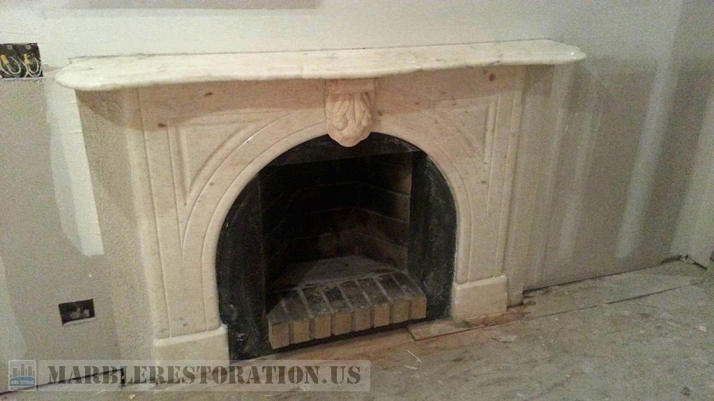 Brownstone Brooklyn Marble Surroundings Fireplace Restoration
