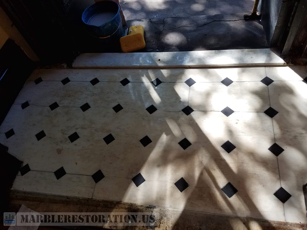 Brownstone House Foyer Floor Appearance Renewed
