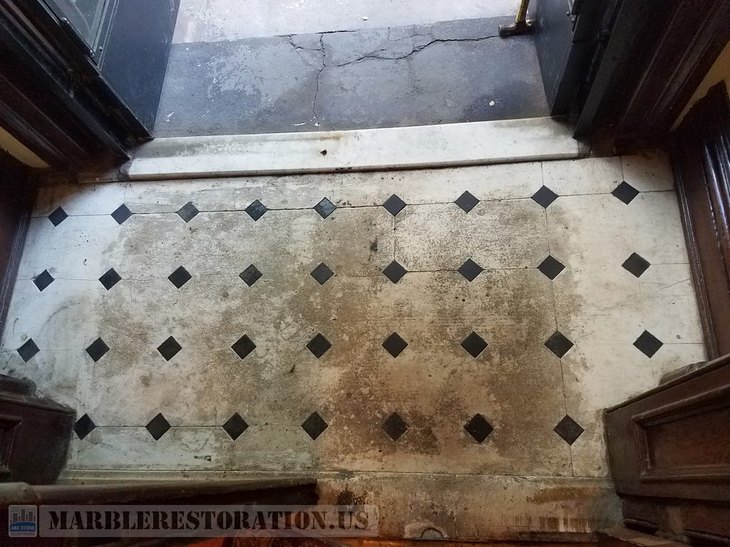Brownstone House Tainted Foyer Floor Recovery