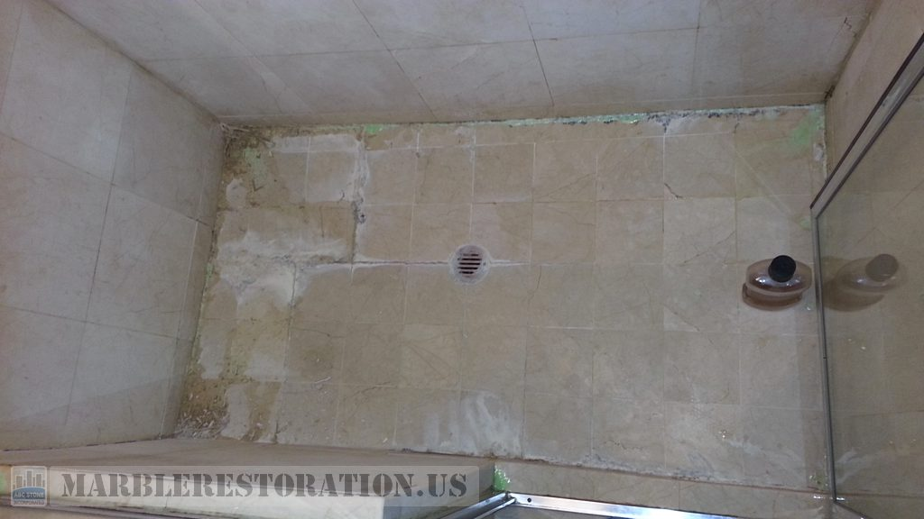 Calcium Salt Buildup Efflorescence Tainted Shower Recovery