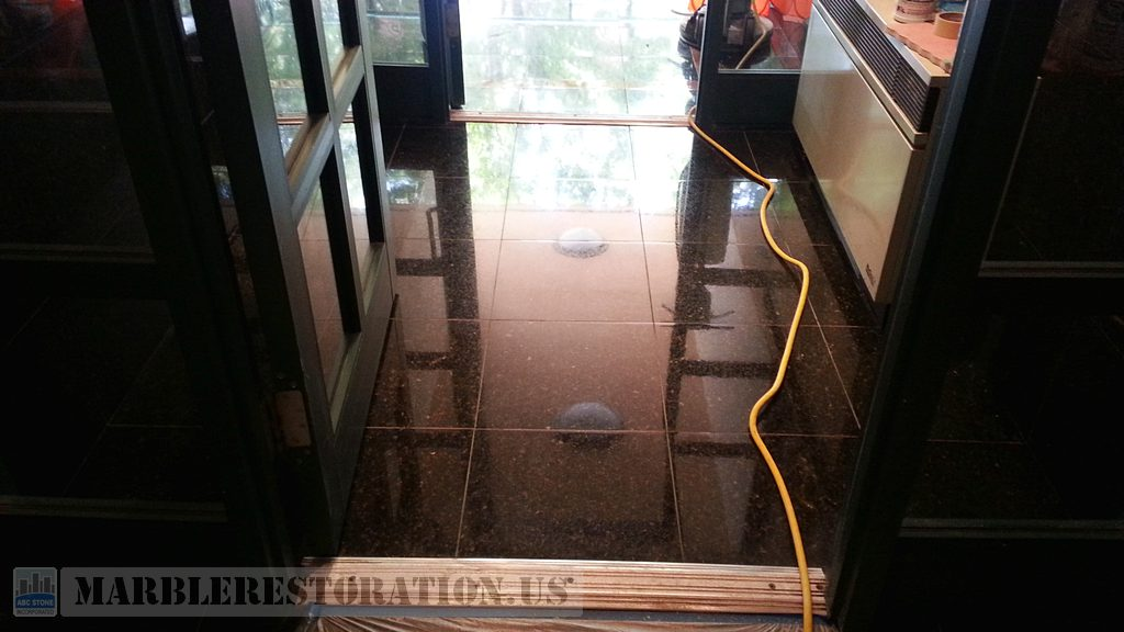 Granite Lobby Floor Polishing