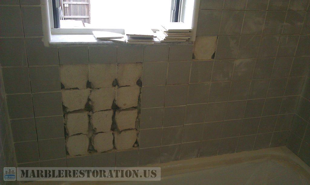 Loosen Ceramic Tiles Re Setting above Tub Wall