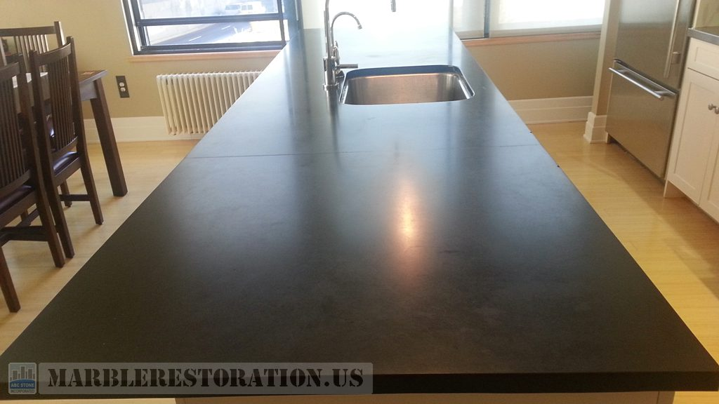 Opaque Black Absolute Granite Counter