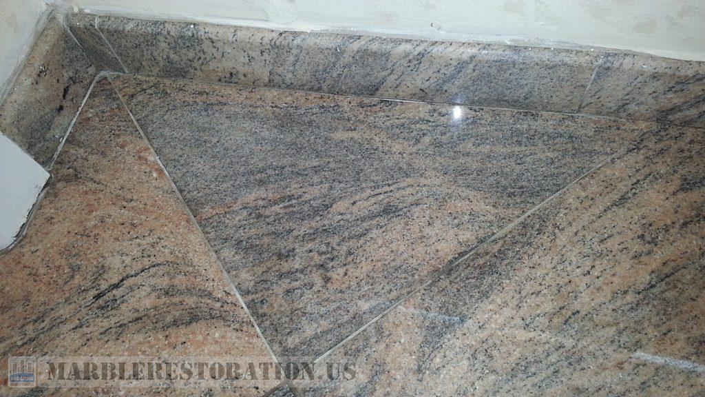 Organic Stain On Granite Floor Removed