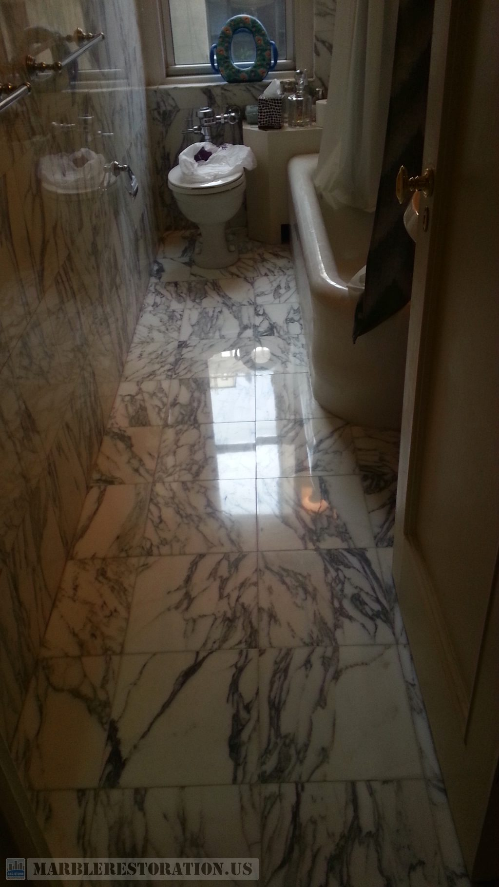 Polished Bathroom Floor