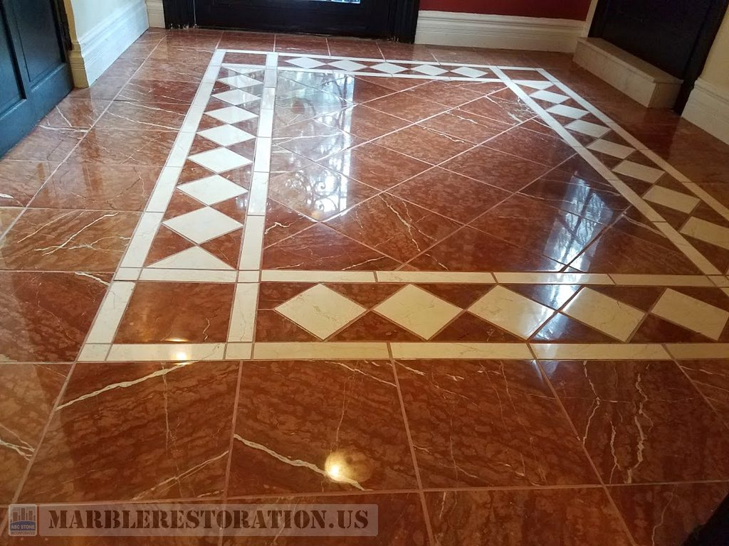 Rosso Verona Reddish Floor After Repolishing