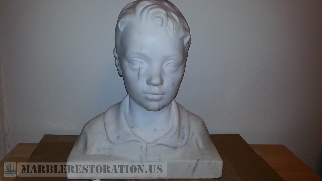 Statuario White Marble Bust Sculpture Restoration