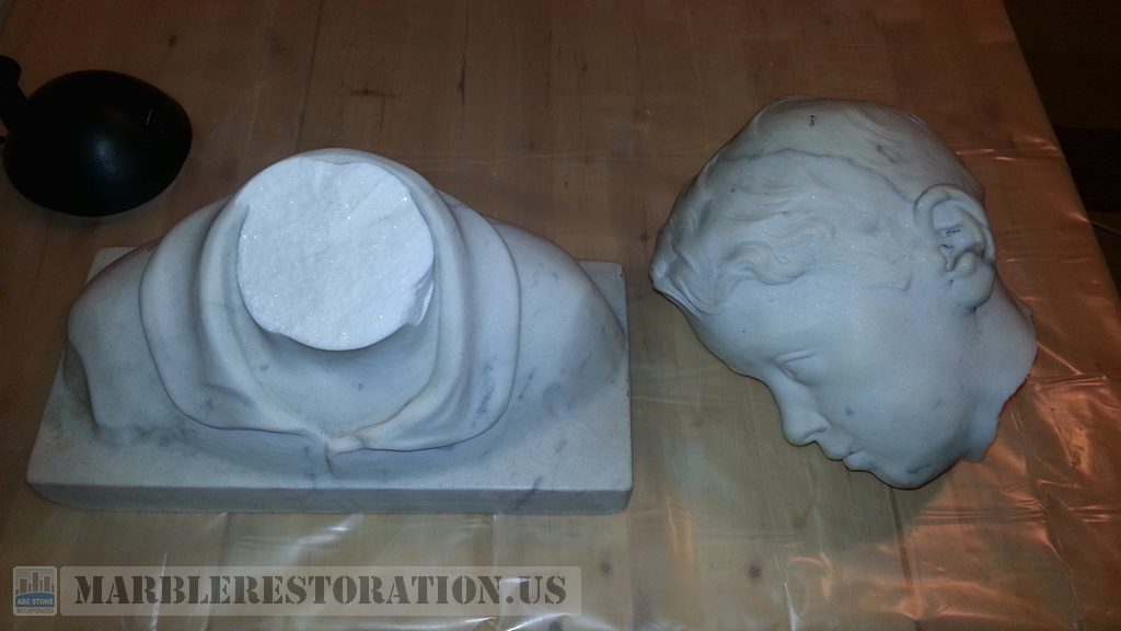 Statuary White Marble Bust Sculpture Revitalization