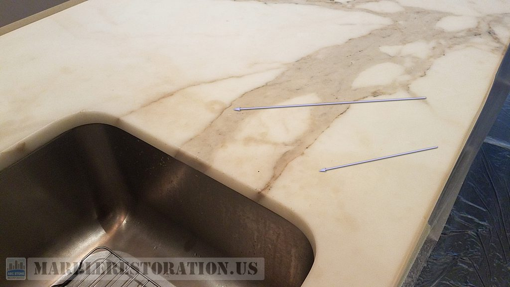 Topical Stain On Marble Workbench