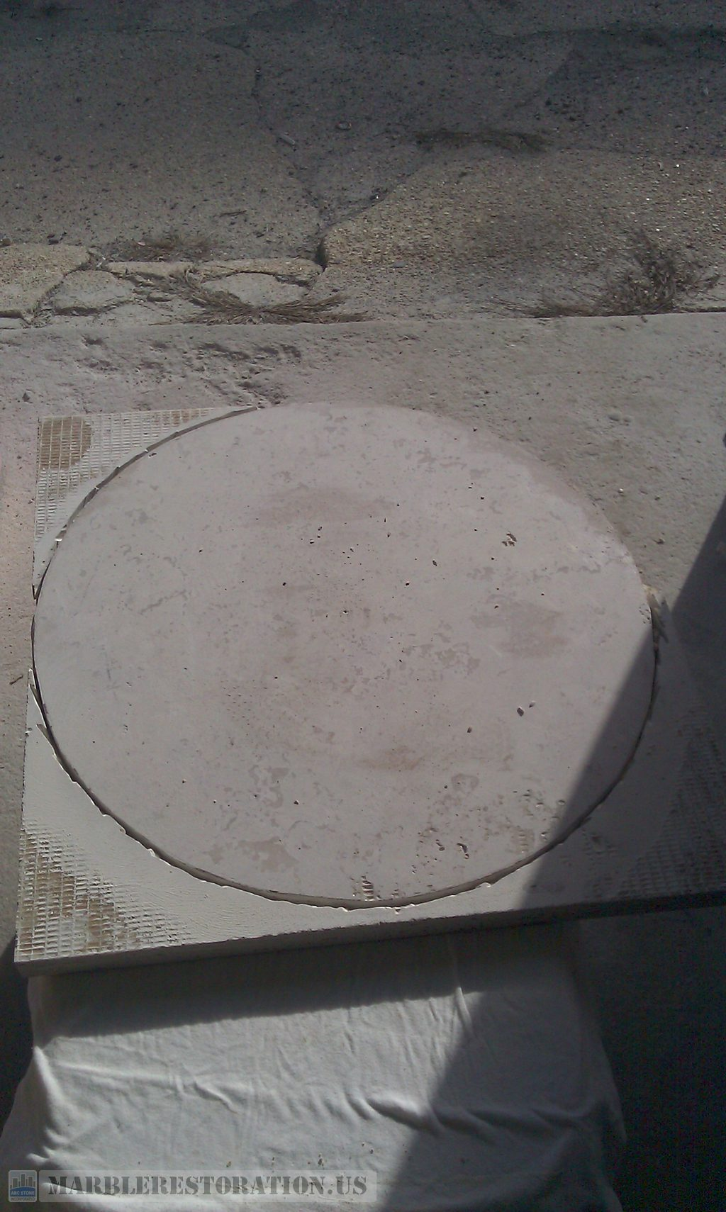 Travertine Table Cut Exterior Fabrication